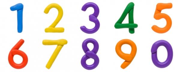 Plasticine cijfers