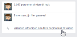 Vrienden uitnodigen op Facebook