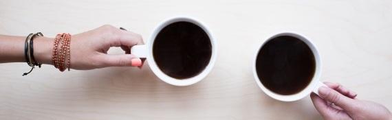 Leraren drinken koffie